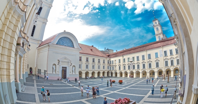 Vilnius University is gradually moving up in the quality ranking system. Photo by Edgaras Kurauskas