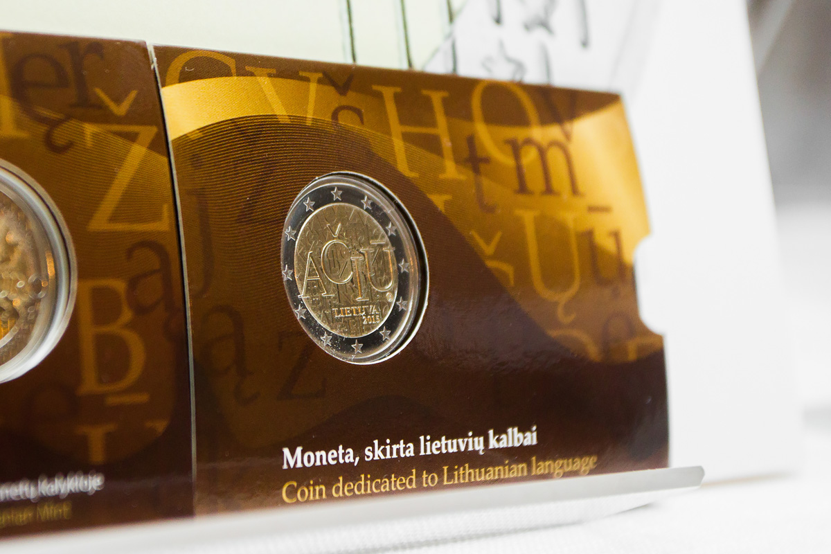 A million 2 euro coins with the word AČIŪ will teach Europeans the Lithuanian language